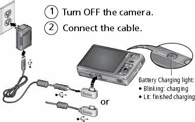 charging the battery rh resources kodak com Battery for Kodak M1033 Camera kodak easyshare m1033 software download