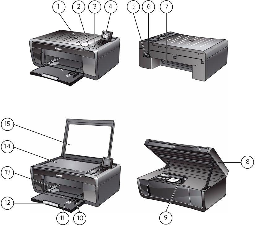 components rh resources kodak com Kodak ESP 5200 Printer Kodak I5200