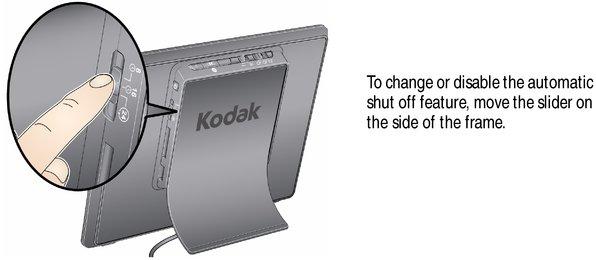 Energy saver setting—automatic shut off